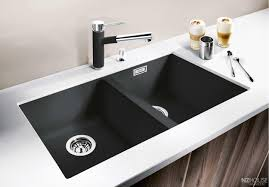 white sink black countertop inset sink inset sink black kitchen white wall with countertop