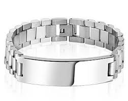 engravable id bracelet engraved id bracelet etsy