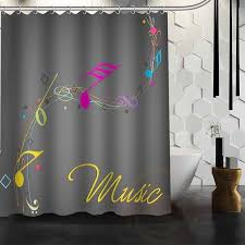 Custom Size Shower Curtains Best Nice Custom Music Notes Shower Curtain Bath Curtain
