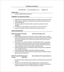 Resume Template Medical Assistant Resume Sample Templates Unbelievable Design Chronological Resume