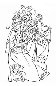 disney princesses coloring page for kids disney princess coloring