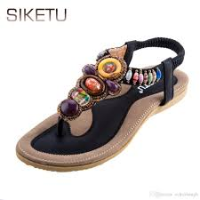 siketu brand newest summer women flat sandals selling bohemia