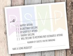 wedding rsvps this rsvp card has an answer for every smart on your