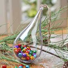 clear acrylic fillable teardrop ornament acrylic fillable