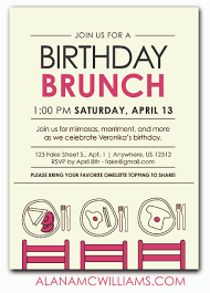 invitation to brunch wording birthday brunch invites cloveranddot