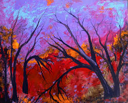 abstract tree paintings abstract trees painting abstract trees fine art print