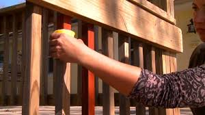 Restaining Banister How To Stain Railing Balausters And Spindles Woodmates