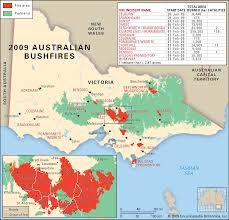 a map of the 2009 black saturday bushfires the worst fires in