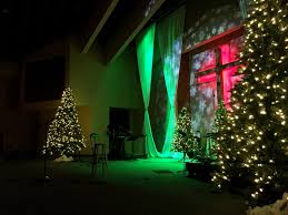curtained christmas church stage design ideas