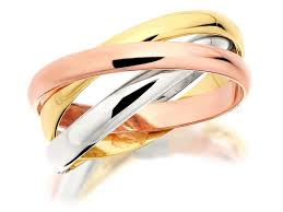 russian wedding rings 9ct three colour gold russian wedding ring 2mm r1754 f hinds