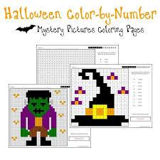 halloween coloring pages color number printables u0026 worksheets