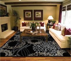 Livingroom Rugs by Amazon Com Luxutry Modern Rugs For Living Dining Room Black Cream