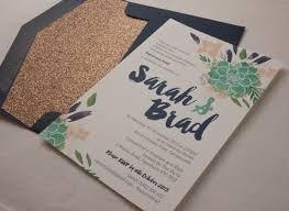 wedding invitations australia succulent watercolour wedding invitation papermarc melbourne