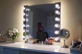 Table Vanity Mirror With Lights Glam Diy Lighted Vanity Mirrors Decorating Your Small Space