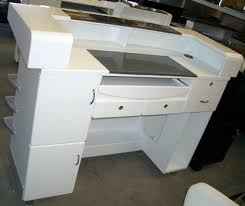 Salon Reception Desk White Salon Shoo Basin Reception Desk Suppliers