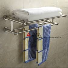 wall mount stainless steel nickel brushed bathroom bath towel