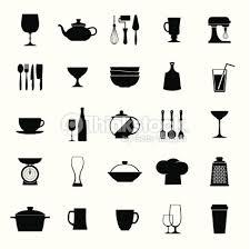 symbole cuisine vecteur des plats de cuisine vintage et ensemble dicônes clipart