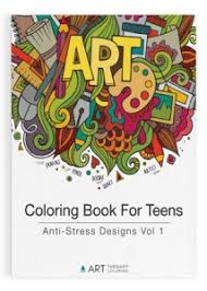 coloring books teens art therapy coloring