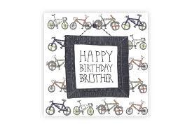 pocket typewriter happy birthday brother bicycle greeting card