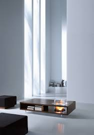 coffee fire long ethanol fireplace planika