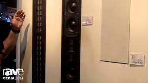 home theater in wall cedia 2014 wisdom audio showcases sage series in wall speaker