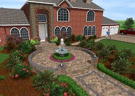 free 3d landscape design software with stone walkway water