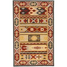 Overstock Indoor Outdoor Rugs by Idol Hand Tufted Southwestern Aztec Texan4000 Wool Rug 3 U00273 X