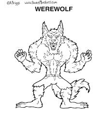 wolfman coloring pages printable kids werewolf