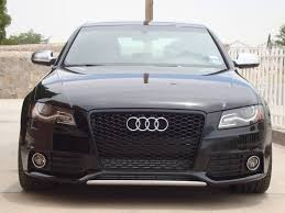 audi a4 b8 grill upgrade gloss black rs4 honeycomb grille w o plate holder