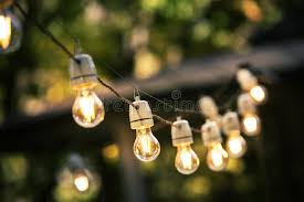 images of outdoor string lights outdoor string lights hanging on a line stock image image of