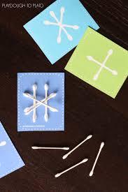 q tip snowflakes playdough to plato