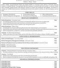 dental student resume objective for dental hygienist resume