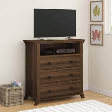 Bedroom Tv Dresser Oakridge 3 Drawer Media Dresser By Altra Homestead Oak Walmart