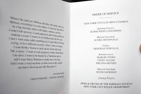 funeral programs order of service stasi joan rivers funeral service was everything she wished for