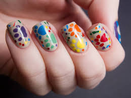 50 latest multicolor nail art designs