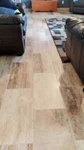 Tile Living Room Floors by Flooring Durango Stone