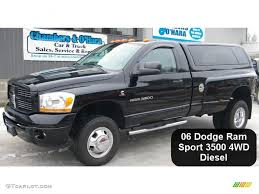 Dodge 3500 Truck Colors - 2006 black dodge ram 3500 sport regular cab 4x4 dually 44955979