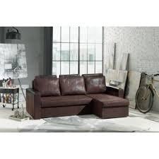 canap simili cuir marron modern sofa dimi simili cuir marron vieilli 288cm x 100cm x 140cm