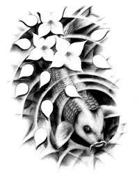 beautiful of japanese koi fish tattoos with image