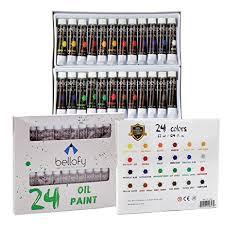 amazon com bellofy 24 color oil paint set 24 x 12 ml 0 4 oz
