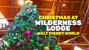 christmas at wilderness lodge 2016 walt disney world youtube