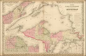 Upper Michigan Map Colton U0027s Lake Superior And The Upper Peninsula Of Michigan Barry