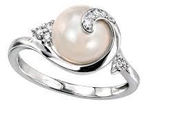 gemstone wedding rings pearl wedding rings ideal weddings