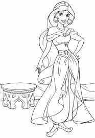 jasmine coloring pages 20 free printable princess cinderella coloring pages