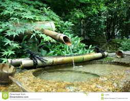 japanese bamboo fountain stock photography image 172482
