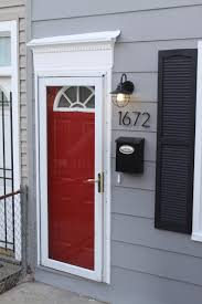 Gray Siding White Trim Black by The Little Pink Gray House Grey Houses Door Trims And Doors