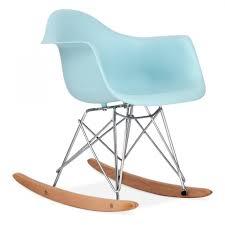 Teal Rocking Chair Eames Inspired Style Light Blue Kids Rar Rocker Chair Cult Furniture