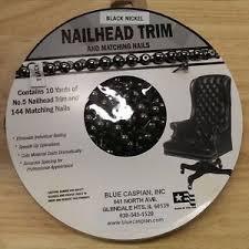 Nailheads For Upholstery 30 Feet Black Nickel Upholstery Tackstrips Roll Nail Strip