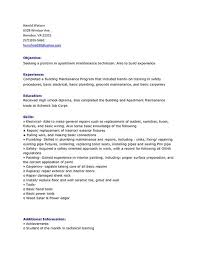 sample maintenance technician resume 9 examples in word apartment