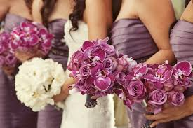 wedding flowers orchids lavender for the bridesmaids bouquet wedding flower